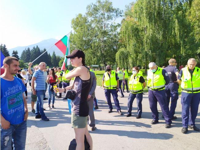 """Протест съпътства срещата на прокурорите в резиденция """"Бояна"""""""