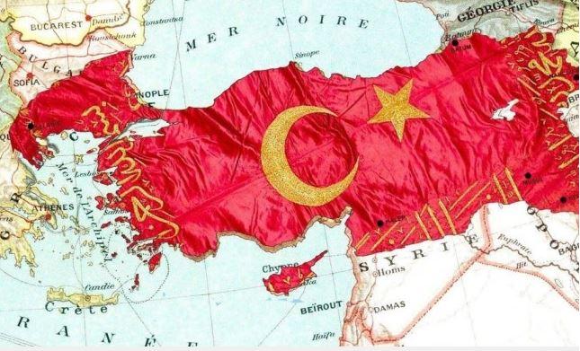 Скандал: Депутат публикува карта на Турция с български и гръцки територии