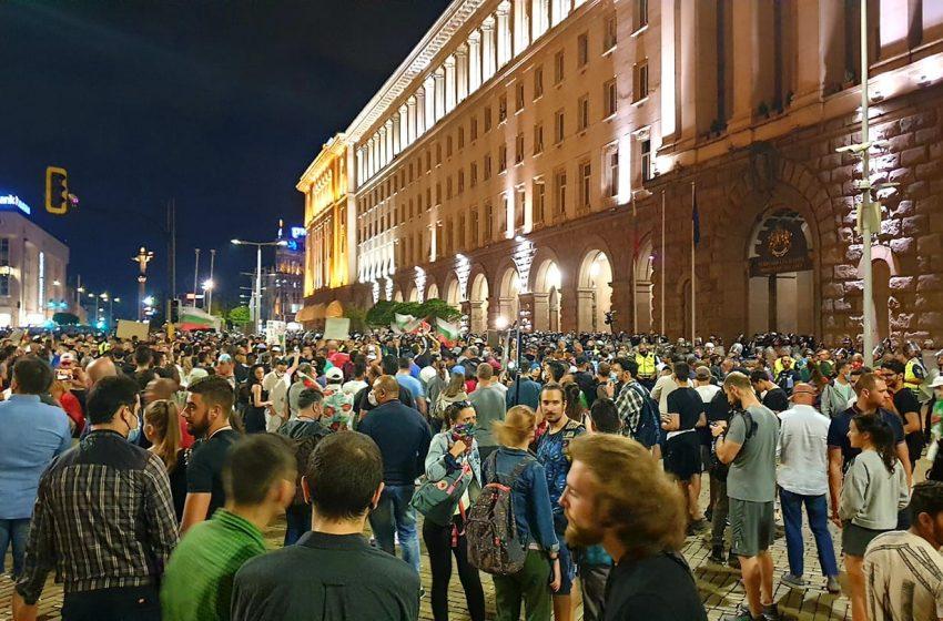 Протестиращи с щурм в Министерството на правосъдието