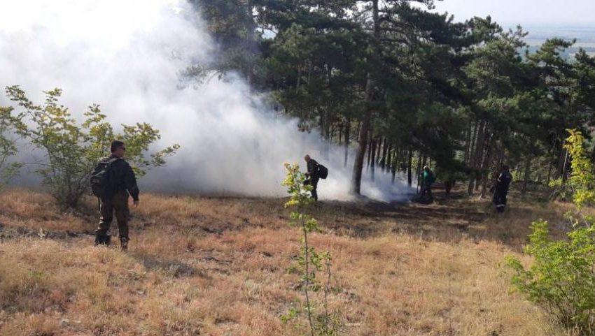 Огънят в Хасковско обхвана близо 100 000 дка