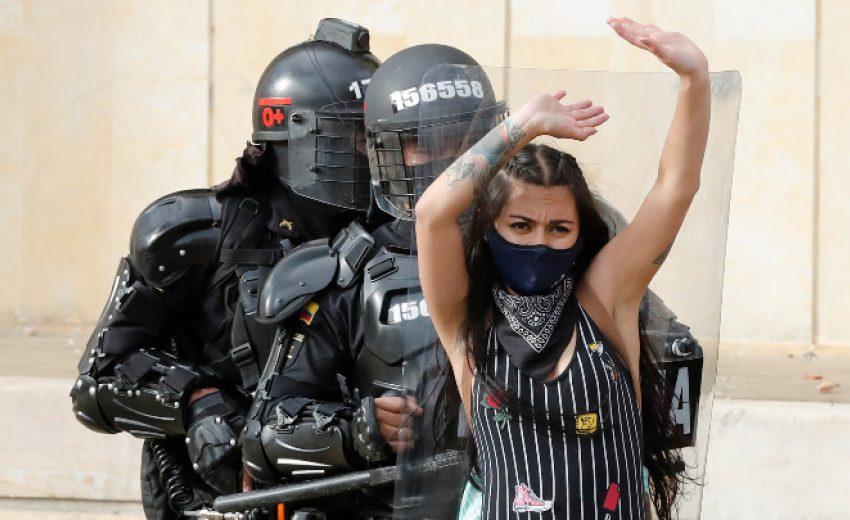 Протести срещу полицейското насилие в Колумбия