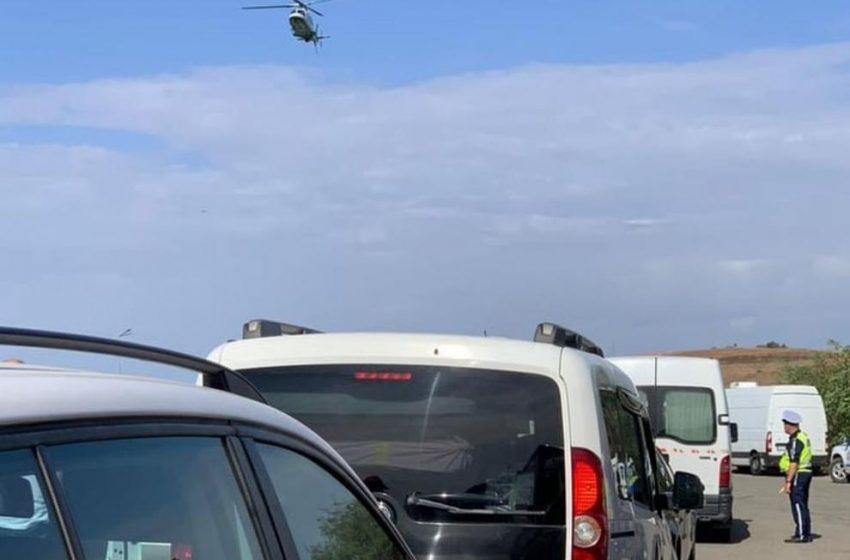"""Ловят мигранти с хеликоптер на АМ """"Марица"""""""