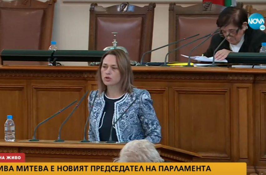 (ВИДЕО) Ива Митева-Рупчева е председателят на 45-ото Народно събрание
